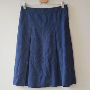 APC Sz 34 (US XS) Blue Silk Skirt Tennis Pleated